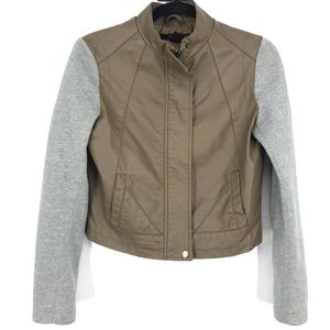 Forever 21 light jacket fake leather sweater small